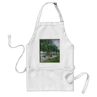 Avental Allée de árvores de castanha - Alfred Sisley
