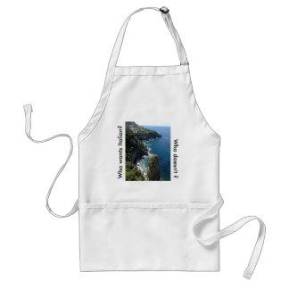 Avental Amalfi, costa, avental, italiano, cozinheiro,