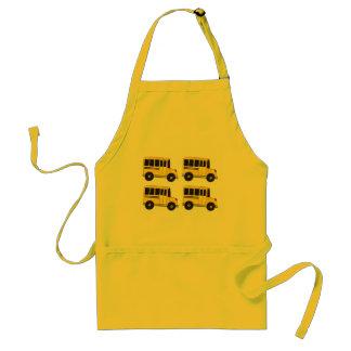Avental amarelo grande do motorista do professor