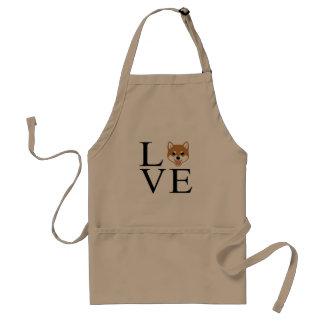 Avental Amor de Shiba Inu