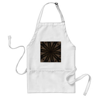 Avental Arte Kaleidoscopic rústica escura da flor de Brown