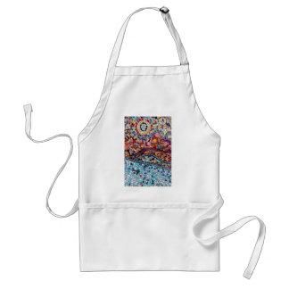 Avental Arte vibrante da parede do mosaico