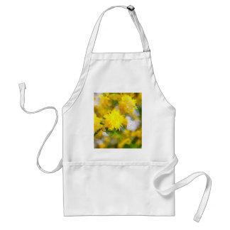 Avental As flores amarelas na cidade jardinam no dia da