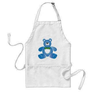 Avental azul de Teddybear