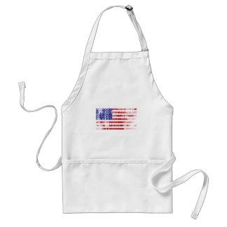 Avental Bandeira americana afligida