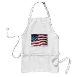 Avental Bandeira americana, azul branco vermelho da