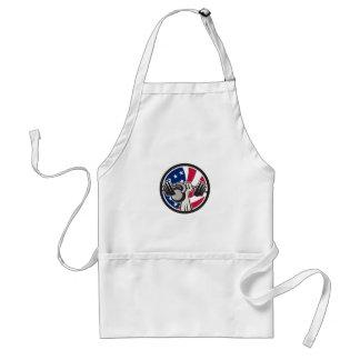 Avental Bandeira americana de Kettlebell EUA do Barbell da