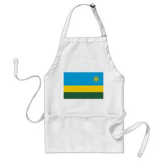 Avental Bandeira nacional do mundo de Rwanda