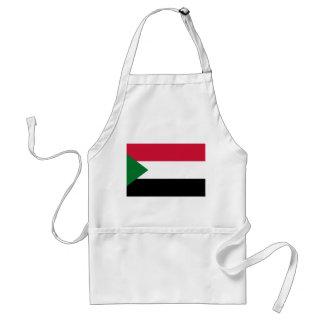 Avental Bandeira nacional do mundo de Sudão