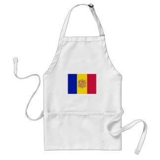 Avental Bandeira patriótica de Andorra