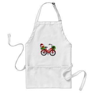 Avental bicicleta do xmas