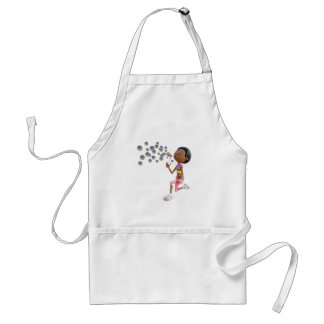 Avental Bolhas de sopro da menina do afro-americano dos