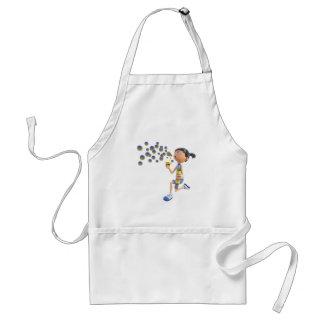 Avental Bolhas de sopro da menina dos desenhos animados