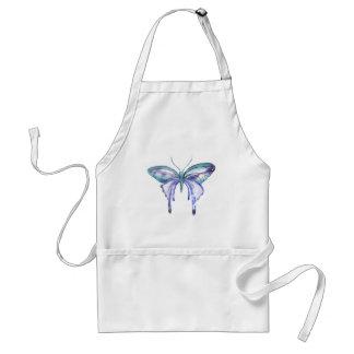 Avental borboleta roxa azul do aqua da aguarela