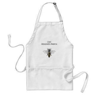 Avental Brasão heráldica formal C da abelha #2 do vintage