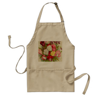 Avental Buquê de flores da ervilha doce
