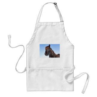Avental Cabeça do retrato do cavalo preto do Frisian