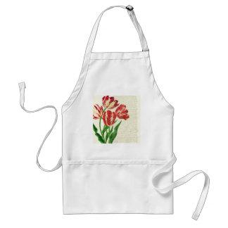 Avental Caligrafia vermelha das tulipas