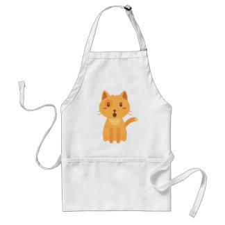 Avental Camisa da cara das expressões do gato do gatinho