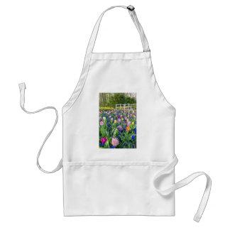 Avental Campo de flores com jacintos e ponte das tulipas