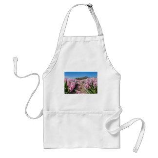 Avental Campo de flores com os jacintos cor-de-rosa em
