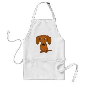 Avental Cão bonito do Wiener dos desenhos animados do