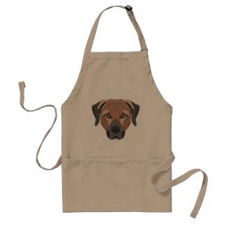 Avental Cão Brown Labrador da ilustração