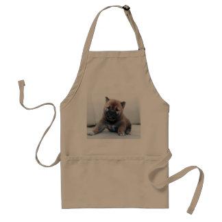 Avental Cão de filhote de cachorro distorcido bonito