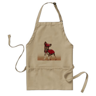 Avental Cão do libre de Lucha, chihuahua engraçada,