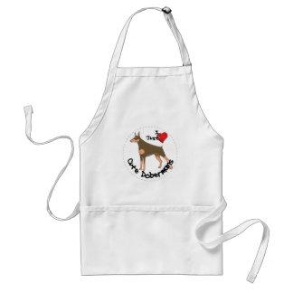Avental Cão engraçado & bonito adorável feliz do Doberman