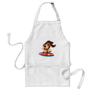 Avental Cão engraçado bonito em uma ilustração da prancha