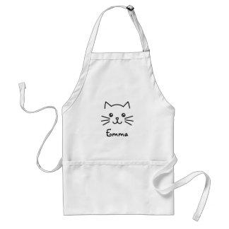 Avental Cara bonito do gato do gatinho de Kawaii com o