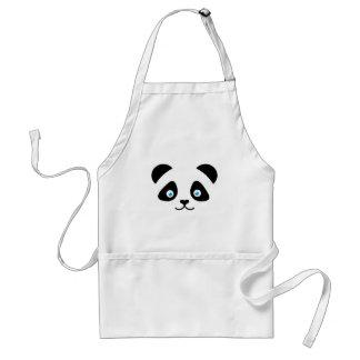 Avental cara do urso de panda