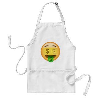 Avental Cara Emoji da Dinheiro-Boca
