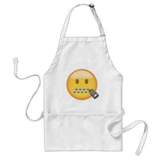 Avental Cara Emoji da Zipper-Boca
