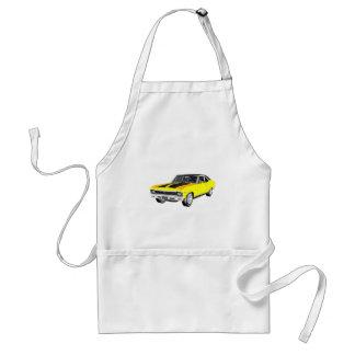 Avental Carro amarelo do músculo 1968