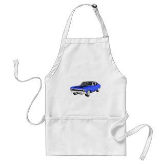 Avental Carro do músculo de 1968 azuis