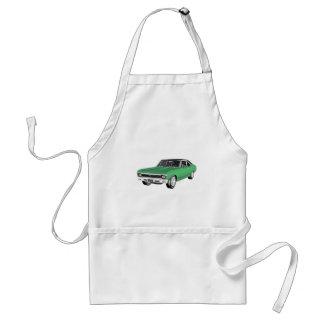 Avental Carro verde do músculo 1968