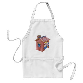 Avental Casa pequena da palha do conto de fadas de três