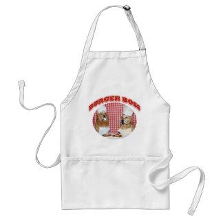 Avental Chefe do hamburguer do golden retriever