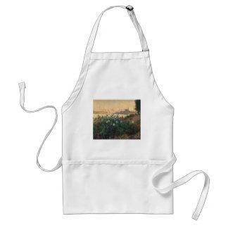 Avental Claude Monet - Riverbank florescido Argenteuil