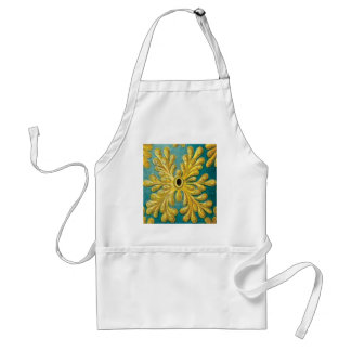 Avental cobrir das folhas do ouro