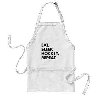 Avental Coma a repetição do hóquei do sono