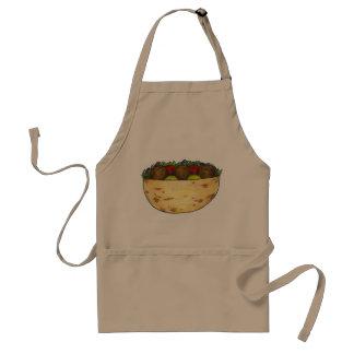 Avental Comida mediterrânea sanduíche enchido do Falafel