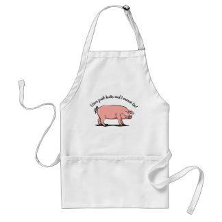 """Avental """"Como bumbuns do porco. """"Avental com porco"""