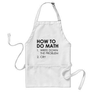Avental Como fazer a matemática
