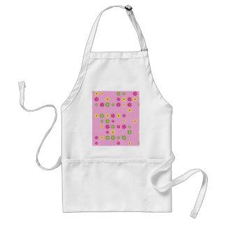Avental Confetes cor-de-rosa da flor