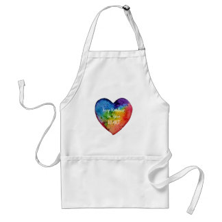 Avental Coração bonito do arco-íris da aguarela