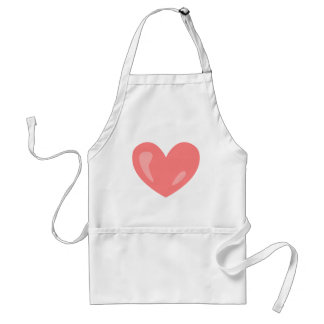Avental Coração cor-de-rosa