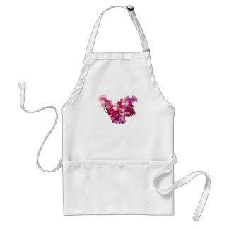Avental Coração cor-de-rosa da ervilha doce